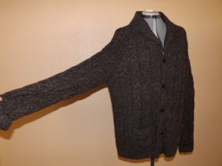 Wool Shawl Collar Cardigan Sweater L Daniel Cremieux Signature