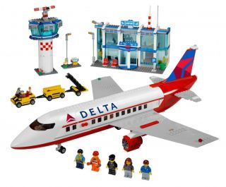 Lego City Custom Delta Airlines Stickers for 3182 Passenger Plane