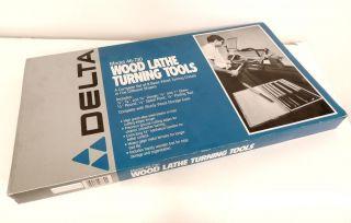 Delta 8 Pc. Wood Lathe Turning Tools Model 46 730 Chisels Set