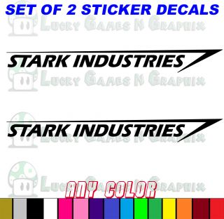 2X Iron Man Stark Industries Sticker Decals Any Colors Car Wall Laptop