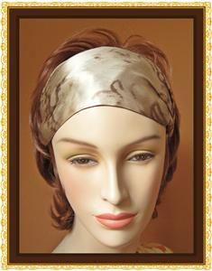 Eugenia Kim Daniella Orange Pink Gold Turquoise Silk Headband Hair