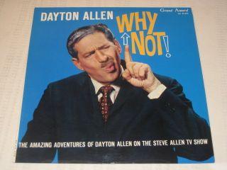 Dayton Allen Why not Comedy LP Grand Award GA 33 424