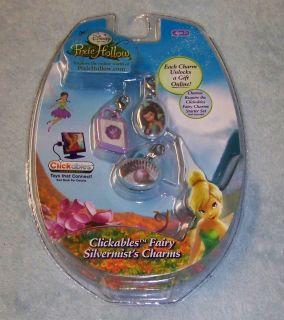 NIP Disney Fairies Pixie Hollow Clickables Fairy Silvermists Charms