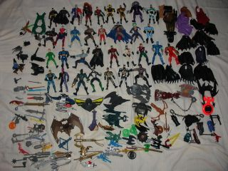 Lot of 33 Mid 90s KENNER DC Comics Action Figures w accessories MOSTLY