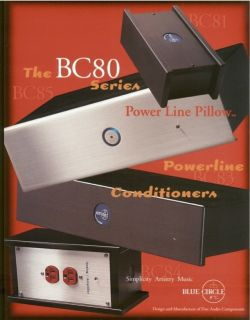 Blue Circle BC80 Series Power Conditioners Brochures