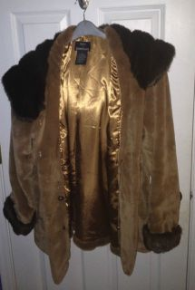Dennis by Dennis Basso L Faux Fur Winter Coat