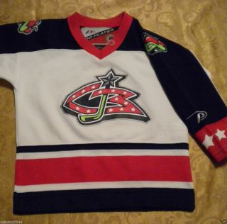 Columbus Blue Jackets Youth Kids Boys Hockey Jersey 3T Pro Player