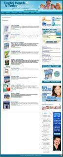 Established DENTAL HEALTH Website For Sale.(Websites by SITEGAP