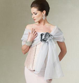 V8694 Patron Couture Vogue Vestes Soir Chale 32 42