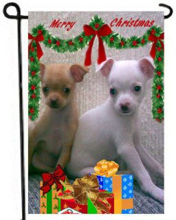 Chihuahuas GARDEN FLAG Christmas gift PuPpy CUTE