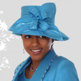 510647a1b84 ... coupon code unique turquoise kentucky derby hat brim church hat sty 376  20111 7227b ...
