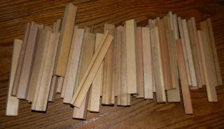 Nice Large Lot of 42+ Wood Scrabble Tile Holder Rack Letter Jewelry