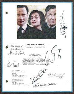 the king s speech signed script rpt colin firth