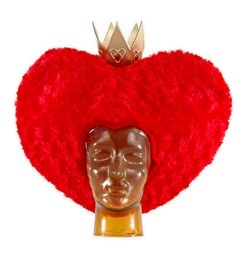 Red Queen of Hearts Hat Crown Wig Alice in Wonderland Licensed Disney