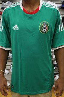 Mexicana de Futbol Green White Red Mens Adidas Soccer Jersey