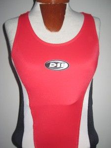 De Soto Sport Bike Cycling Triathlon Tank Top Shirt Red White Bla CK