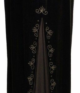 Dave Johnny by Laura Ryner Bronze Beaded Velvet Evening Gown Brown