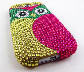 Owl Face Diamond Hard Cover Case Samsung Galaxy s III 3 S3 Accessory