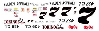 Dean Dalton Belden Asphalt Ford Torino 1/32nd Slot Car Decal