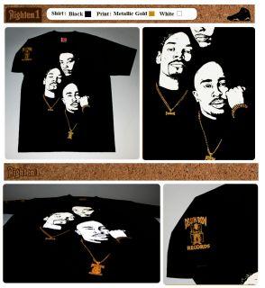 Cajmear Death Row 2Pac Shirt Dr Dre 7 Snoop Dogg West VII Gold Medal