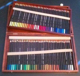Derwent Watercolor Pencils with Hardwood Box Set of 72
