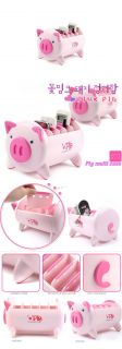 Office Home Table Desk Organizer Pen Holder Pink Pig