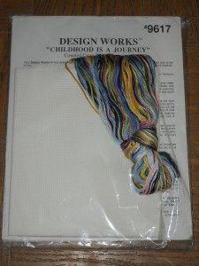 Design Works Cross Stitch Kit Childhood Should Be A Journey not A Race