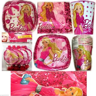 ... New Barbie Fashion Birthday Party Supplies Create Your Own Set You ...  sc 1 th 225 & Barbie Ballerina Birthday Party Supplies 8 Large Dinner Lunch Paper ...