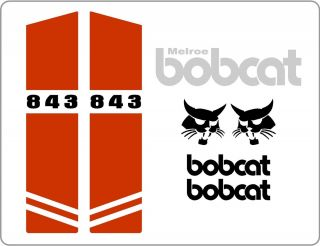 843B New Decal Kit Set Skid Loader Skid Steer Bobcat IR XCX Decals