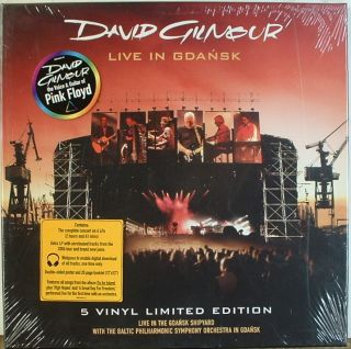 David Gilmour SEALED Live in Gdansk Columbia 5LP Box
