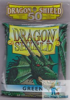 Dragon Shield 50 Green Deck Protectors Protective Card Sleeves for MTG