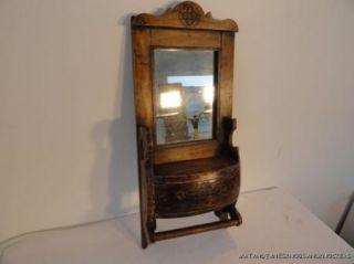 Victorian Hanging Wooden Mirror Cabinet Bathroom Wall Cabinet