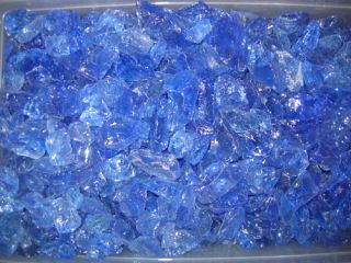 10 lbs Ocean Blue Fireglass Landscape Aquarium Glass