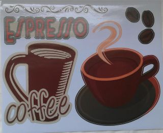 Coffee House Latte Kitchen Vinyl Decal Sticker Interior Decor Home