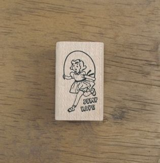 Decorative Stamps Vintage I Love Jumping Rope Rubber Stamp