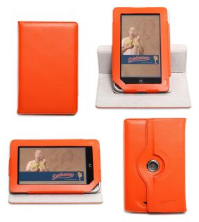 Dante 360 Rotating Orange Nook Tablet Color Case Vertical Stand Cover