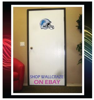 Detroit Lions Helmet NFL Removable Door Wall Decor Sticker Decal