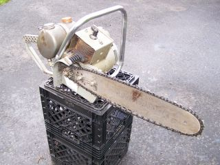 Old EARLY David Bradley Chainsaw Hit Miss Gas Engine Garden Tractor