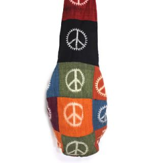 Sun Ray Peace Sign Patchwork Cross Body Hobo Handbag has a season