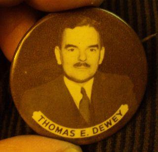 1948 Republican Thomas E. Dewey Presidential Political Celluloid Pin