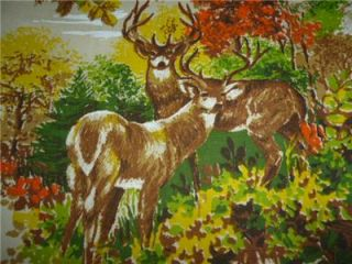 Hunting Fishing Theme Dogs Geese Deer River Cabin Lodge 45 x 45