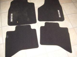 Dodge RAM Quad Cab 4x4 Black Carpet Floor Mats
