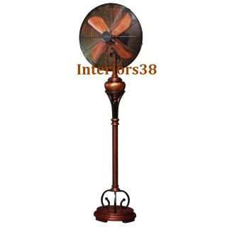 Hollywood RETRO SHINY FLOOR STANDING OSCILLATING Whisper FAN 3 SPEED