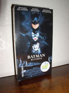 Batman Returns Keaton Pfeiffer DeVito VHS 1992 New 085391500032