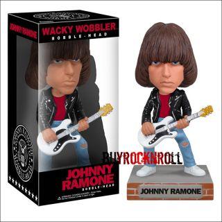 2011 Funko Ramones Johnny & Dee Dee Bobblehead Wacky Wobbler Set