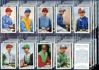 Tobacco Card Set, Gallaher, FAMOUS JOCKEYS, Horse Racing, 1936