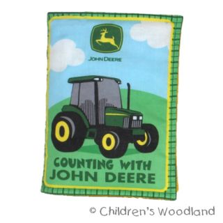 JOHN DEERE CLOTH/SOFT BOOK KID~BABY~TRACTOR~FARM~COUNTING~NUMBERS
