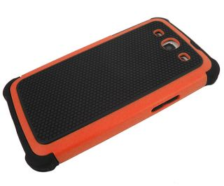 Orange/Black Defender Heavy Duty Protective Hard Full Body Cover Case