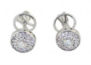 Vintage Diamond Jewelry 0 60 CTW Round Cut 14kt White Gold Cluster