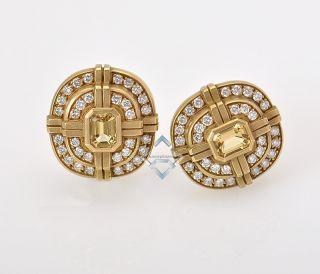 Kieselstein Cord Yellow Gold Diamond Sapphire Earrings